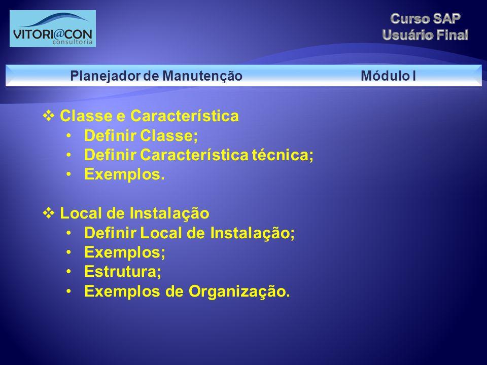 Planejador de Manutenção Módulo I