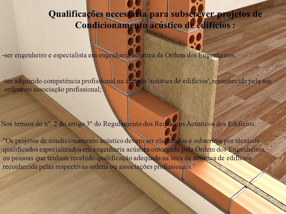 Qualificações necessária para subscrever projetos de