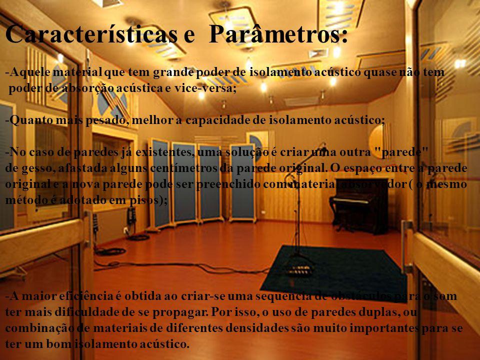 Características e Parâmetros: