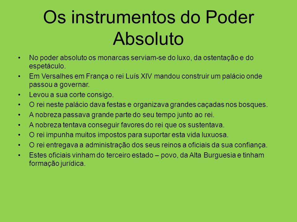 Os instrumentos do Poder Absoluto