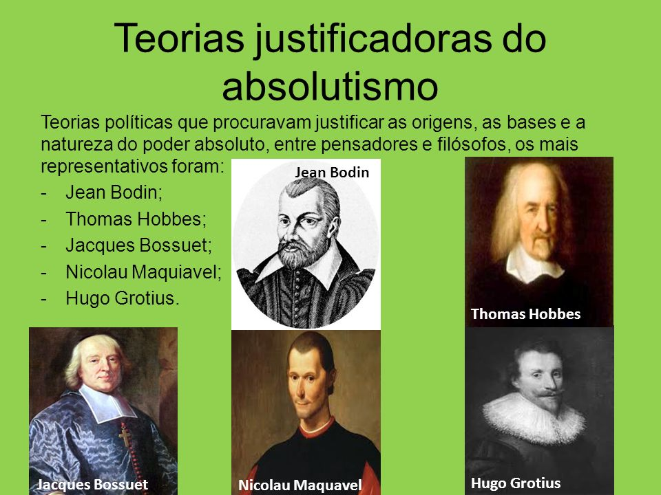 Teorias justificadoras do absolutismo