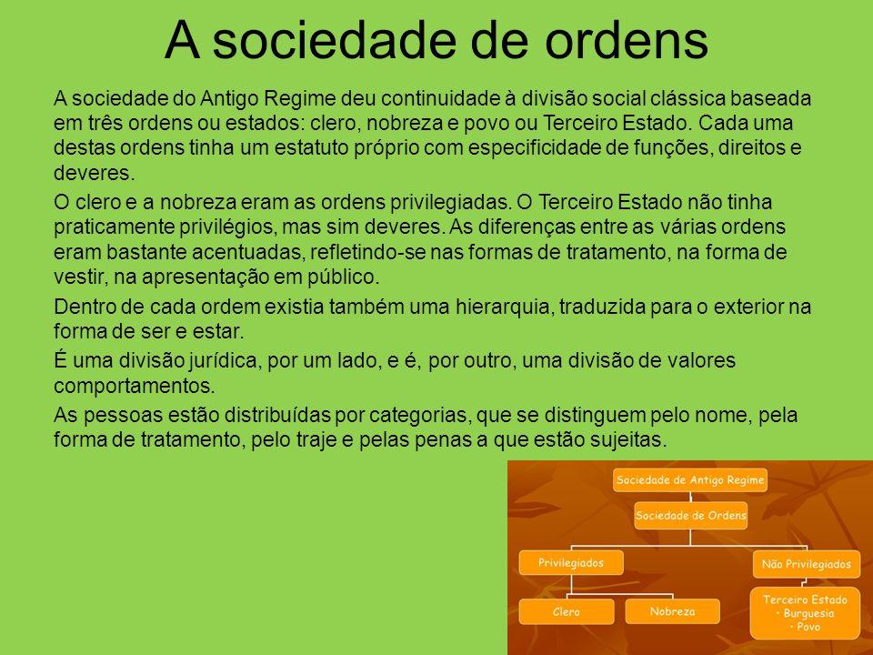 A sociedade de ordens