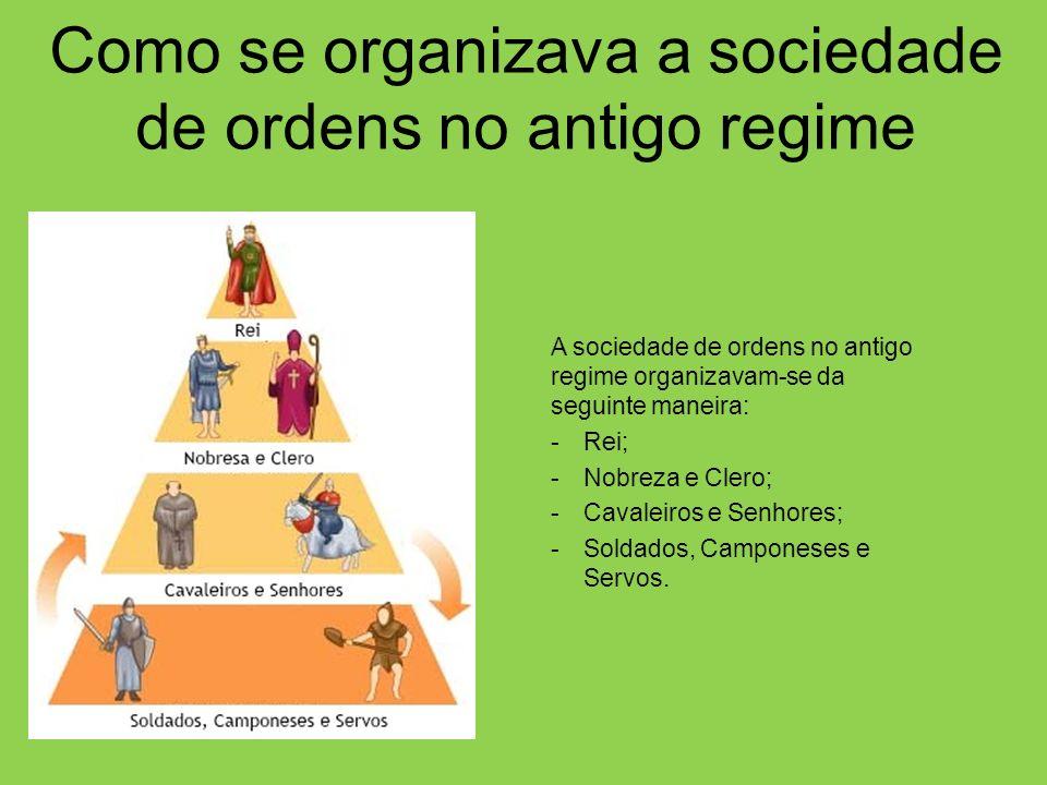 Como se organizava a sociedade de ordens no antigo regime
