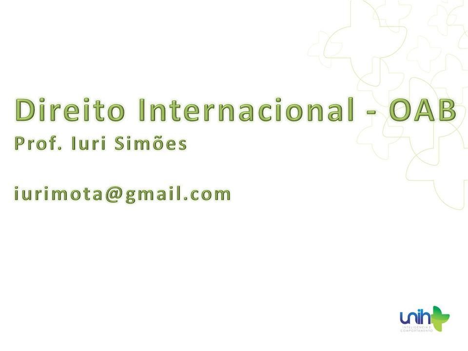 Direito Internacional - OAB