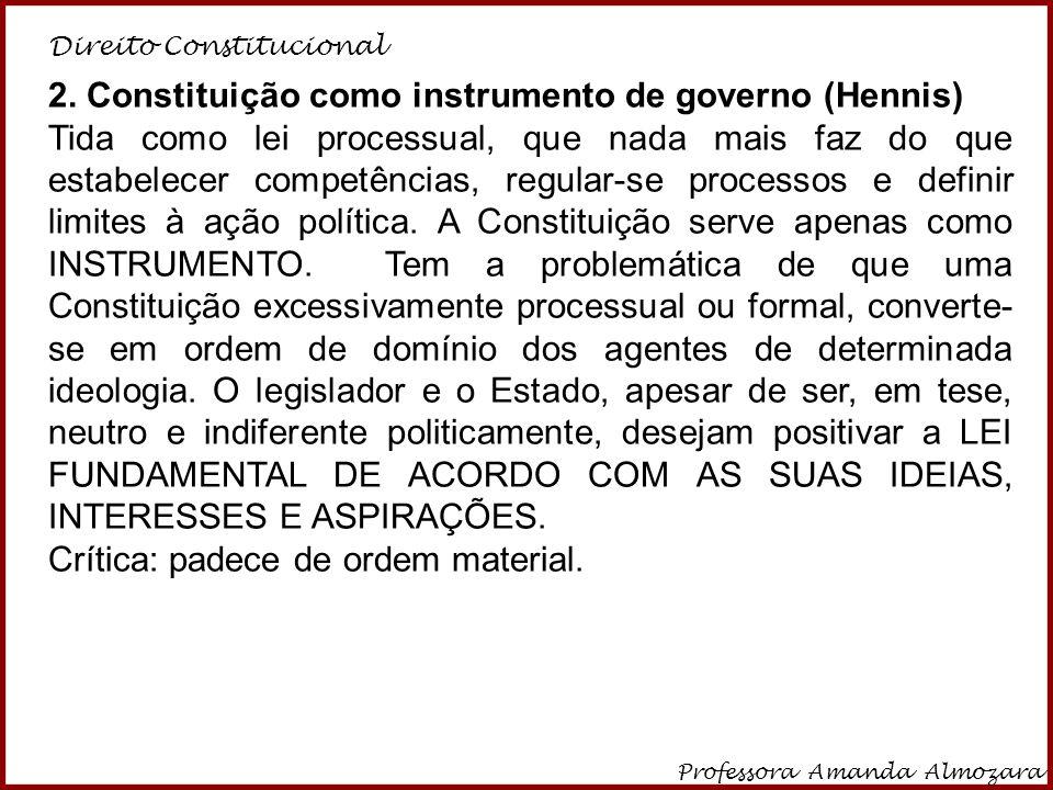 2. Constituição como instrumento de governo (Hennis)