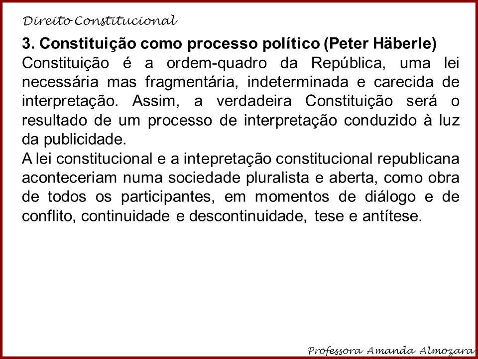 3. Constituição como processo político (Peter Häberle)