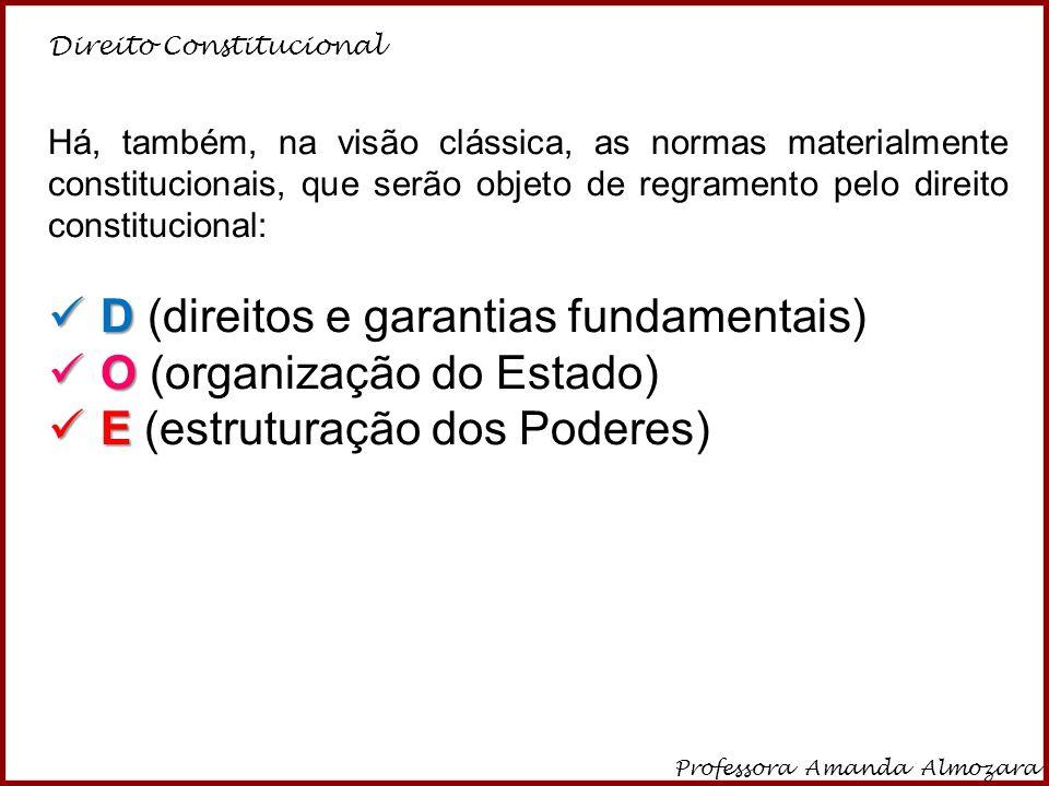 D (direitos e garantias fundamentais) O (organização do Estado)