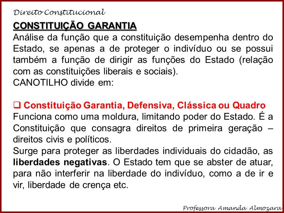 CONSTITUIÇÃO GARANTIA