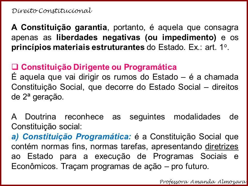 Constituição Dirigente ou Programática