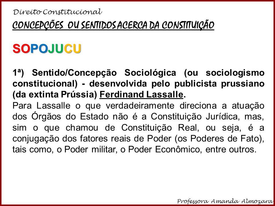 SOPOJUCU CONCEPÇÕES OU SENTIDOS ACERCA DA CONSTITUIÇÃO