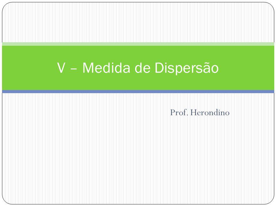 V – Medida de Dispersão Prof. Herondino