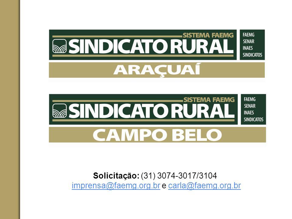 imprensa@faemg.org.br e carla@faemg.org.br