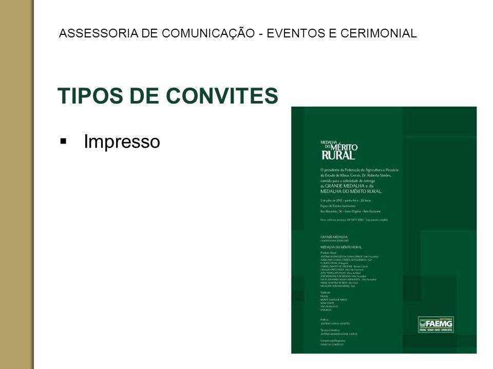 TIPOS DE CONVITES Impresso