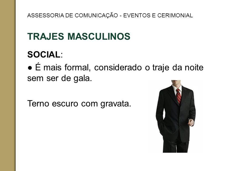 TRAJES MASCULINOS SOCIAL:
