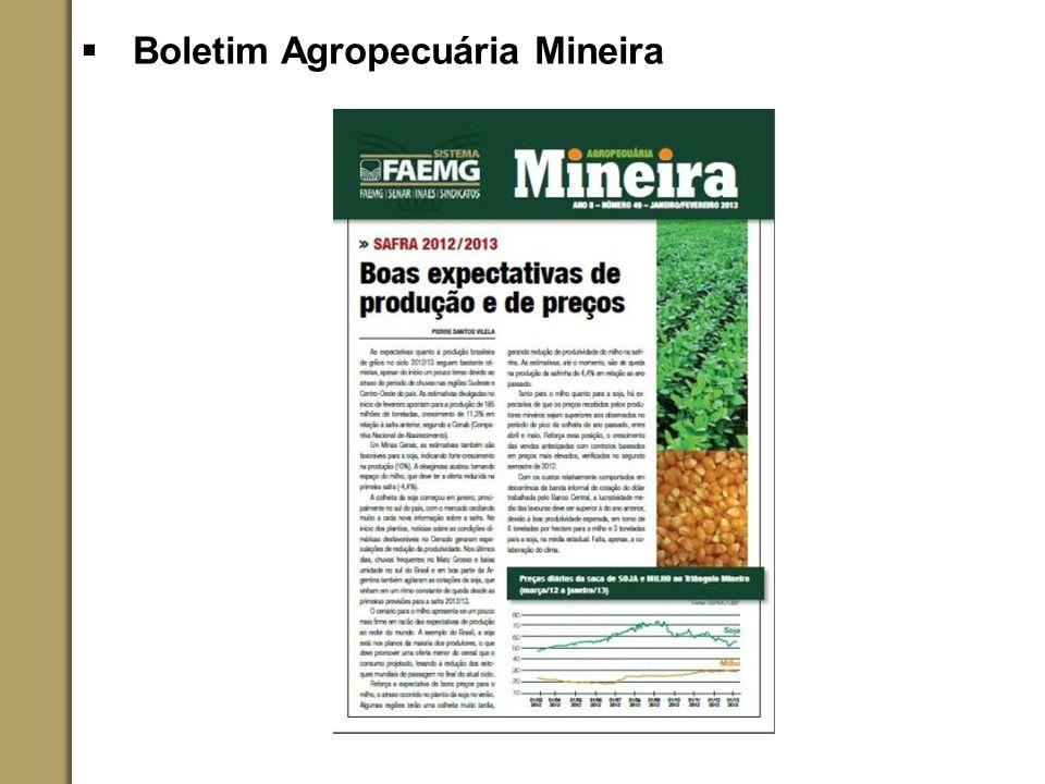 Boletim Agropecuária Mineira