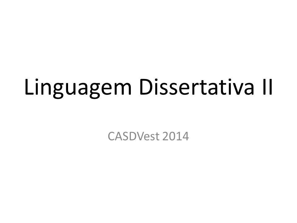 Linguagem Dissertativa II