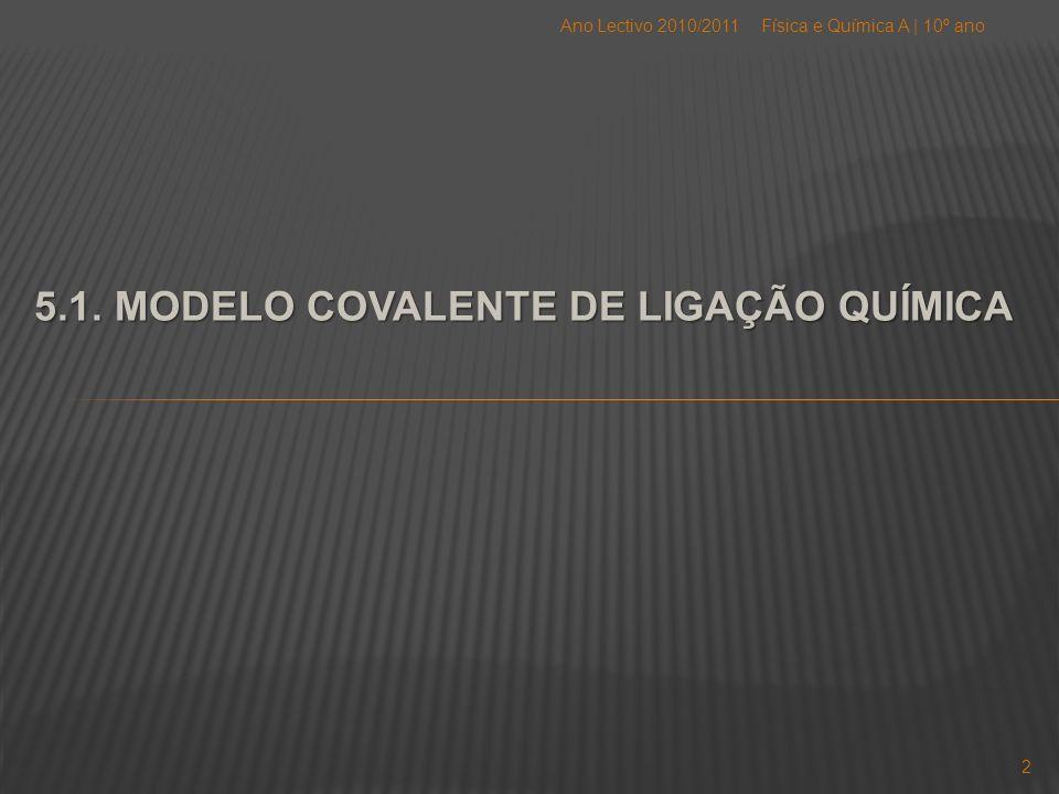 5.1. MODELO COVALENTE DE LIGAÇÃO QUÍMICA