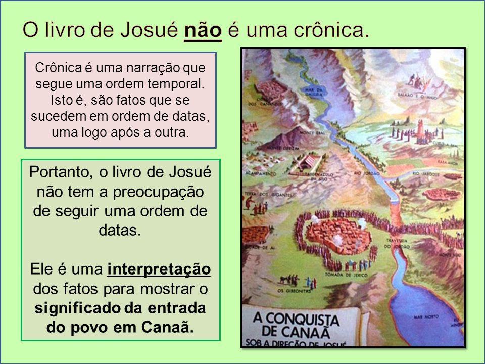 O livro de Josué não é uma crônica.