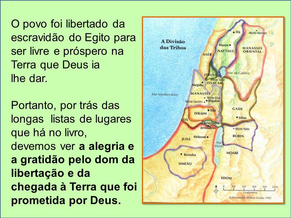 O povo foi libertado da escravidão do Egito para ser livre e próspero na Terra que Deus ia