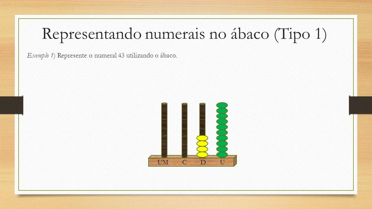 Representando numerais no ábaco (Tipo 1)
