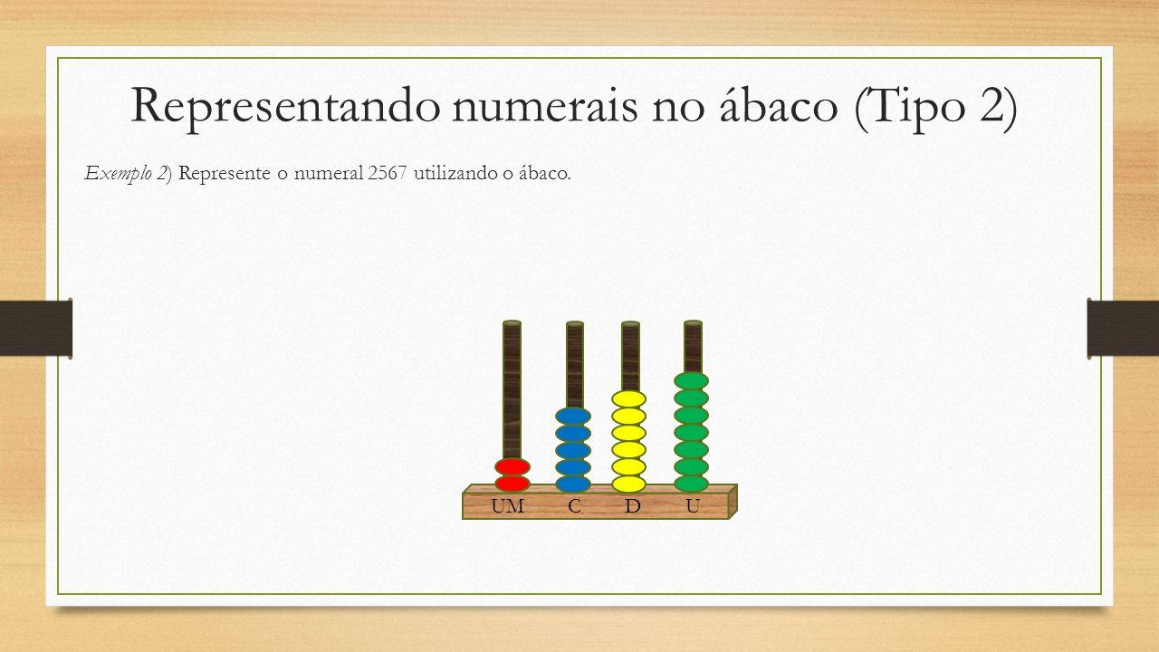 Representando numerais no ábaco (Tipo 2)