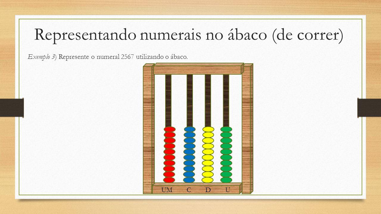 Representando numerais no ábaco (de correr)