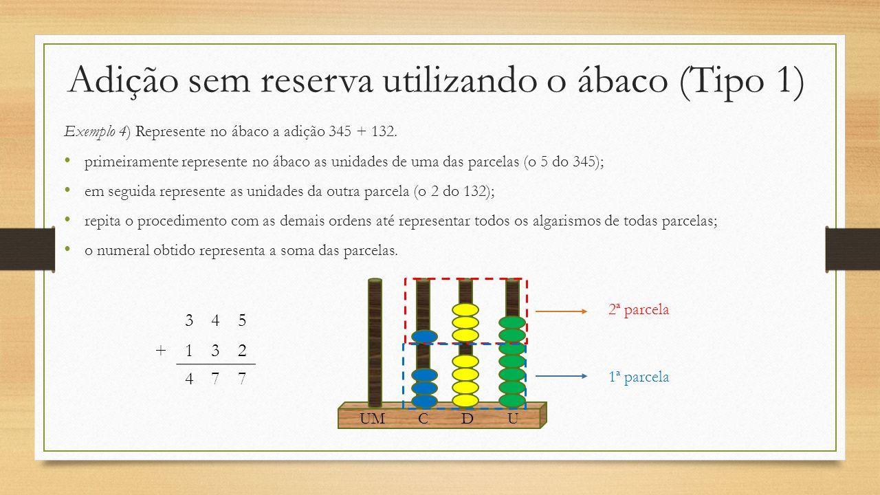 Adição sem reserva utilizando o ábaco (Tipo 1)