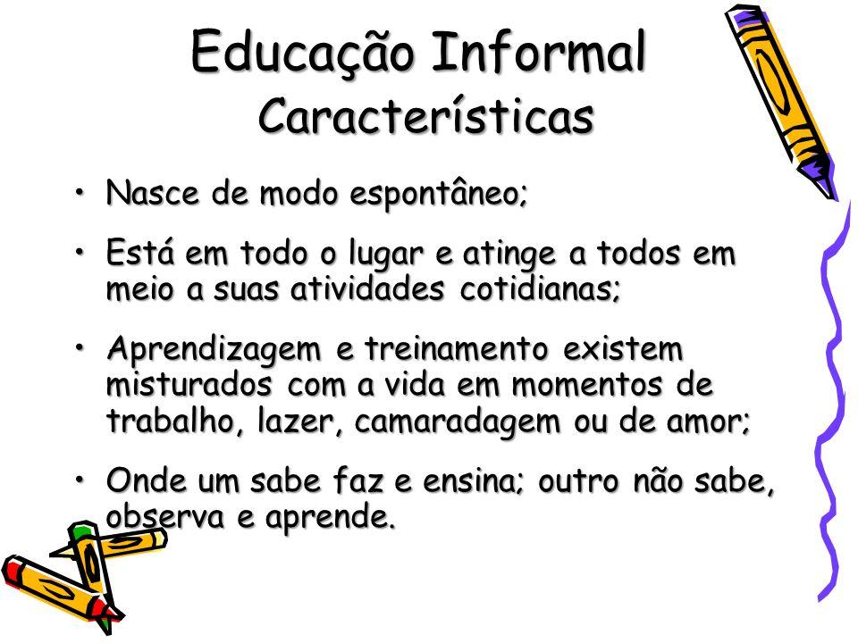 Educação Informal Características