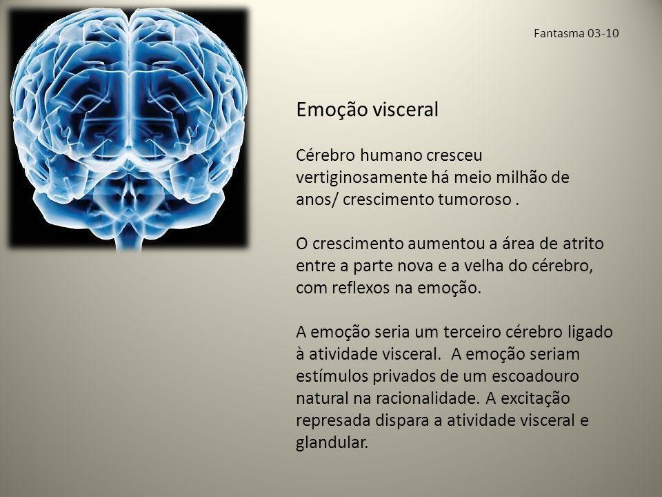 Fantasma 03-10 Emoção visceral. Cérebro humano cresceu vertiginosamente há meio milhão de anos/ crescimento tumoroso .