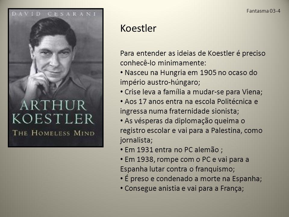 Fantasma 03-4 Koestler. Para entender as ideias de Koestler é preciso conhecê-lo minimamente: