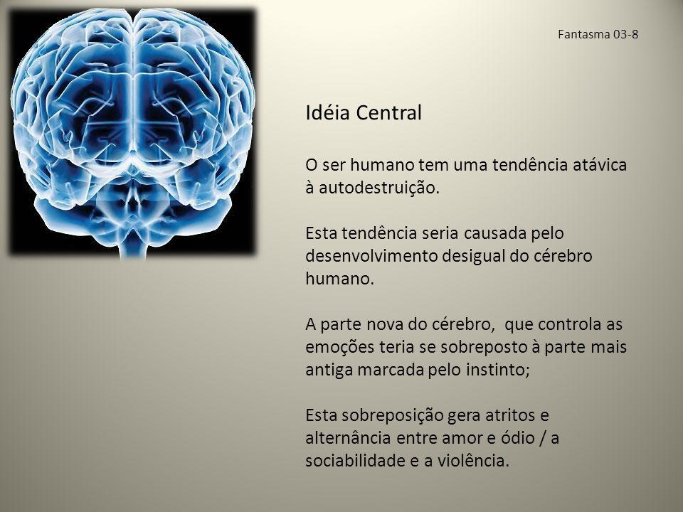 Idéia Central O ser humano tem uma tendência atávica à autodestruição.