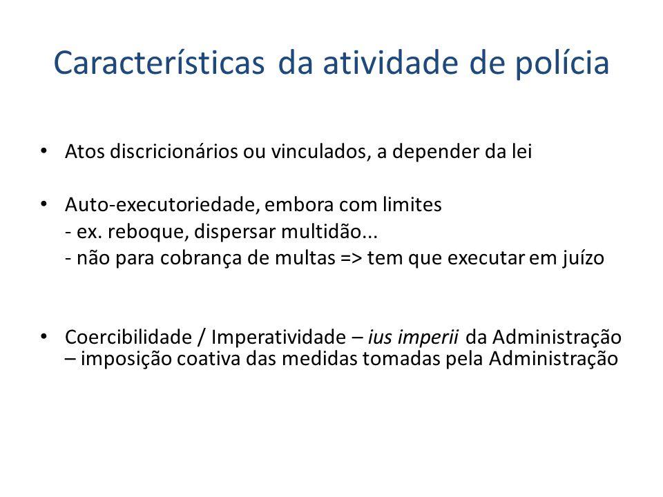 Características da atividade de polícia