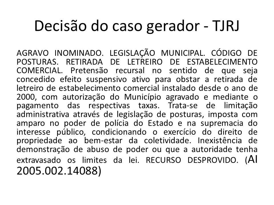 Decisão do caso gerador - TJRJ