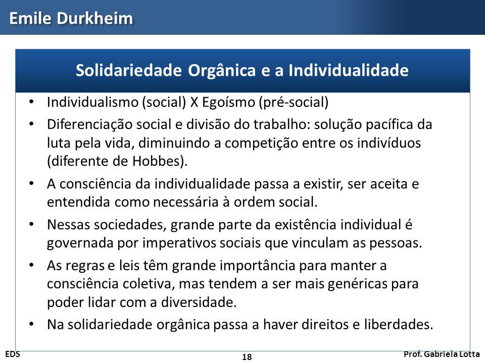 Solidariedade Orgânica e a Individualidade