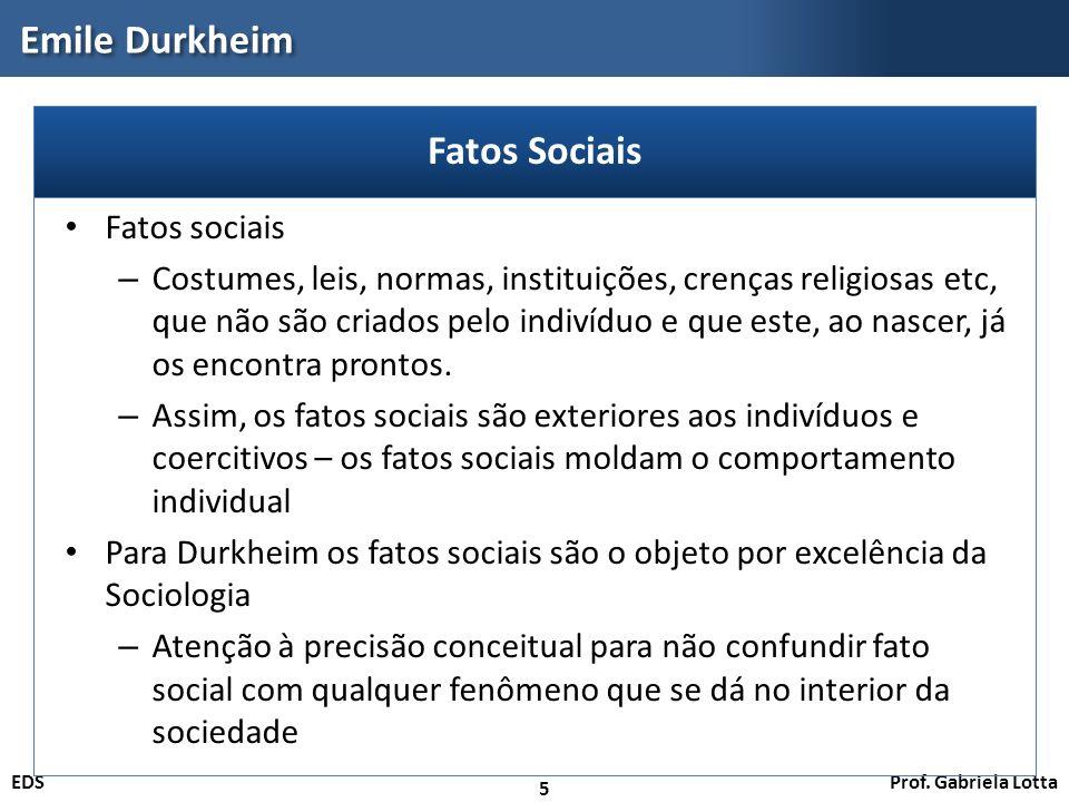 Emile Durkheim Fatos Sociais Fatos sociais