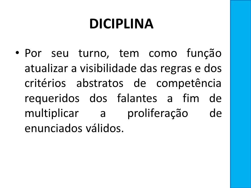 DICIPLINA