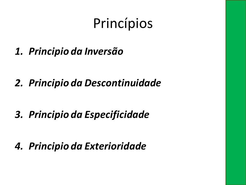 Princípios Principio da Inversão Principio da Descontinuidade