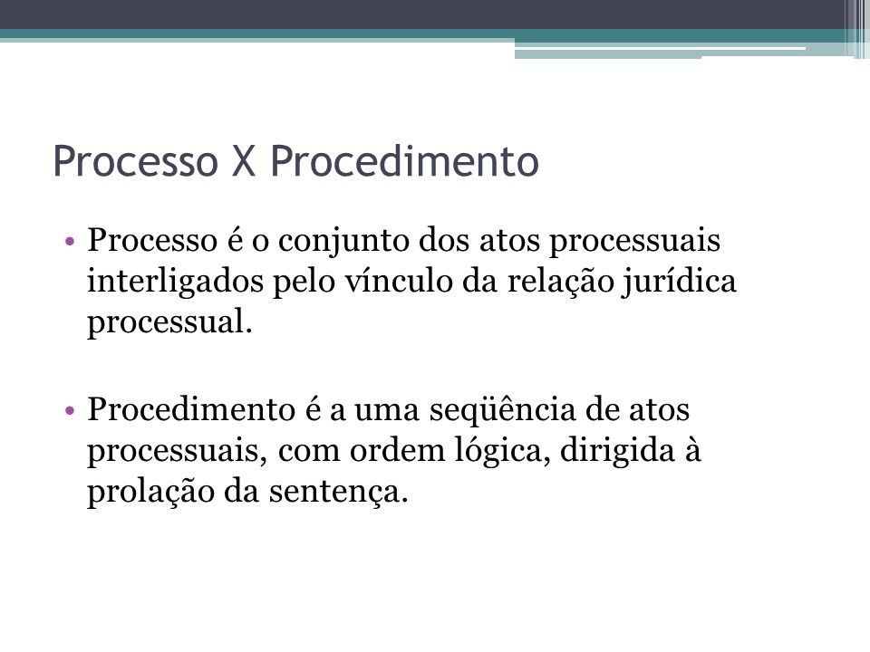 Processo X Procedimento