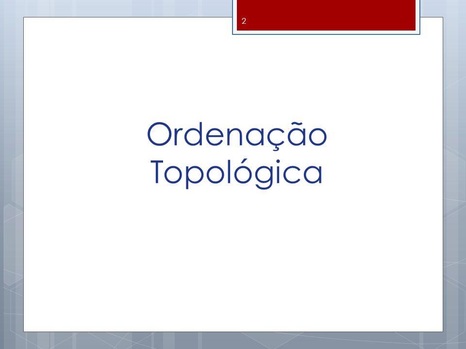 Ordenação Topológica