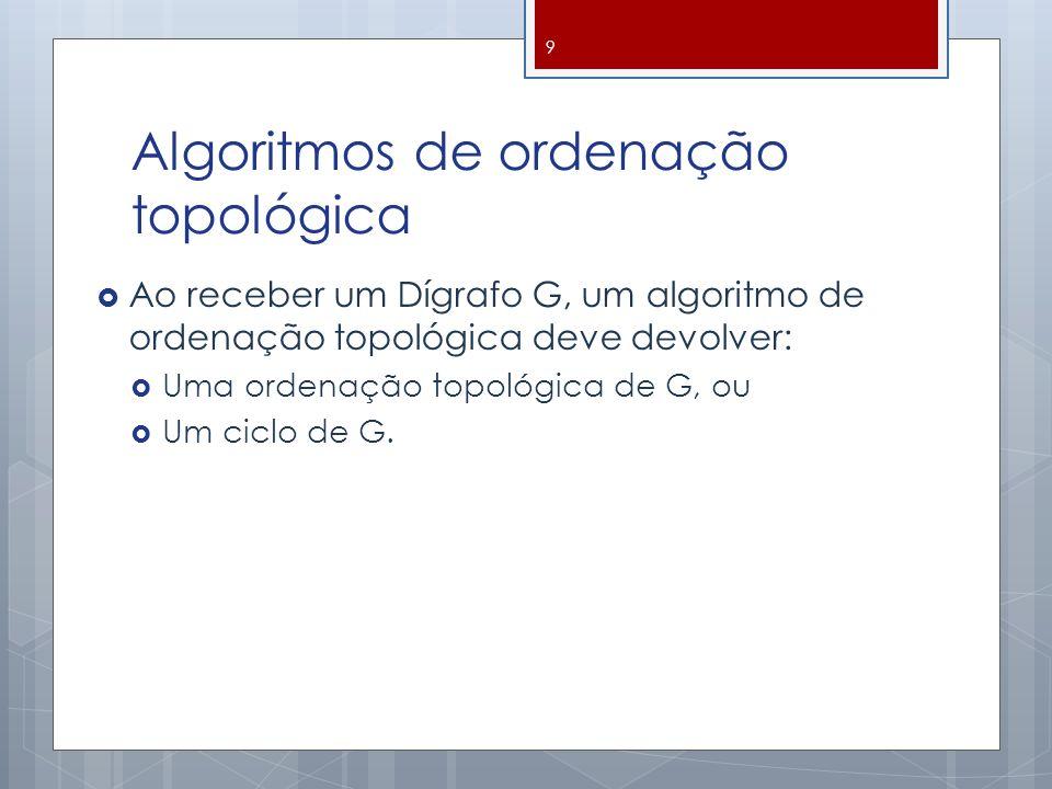 Algoritmos de ordenação topológica