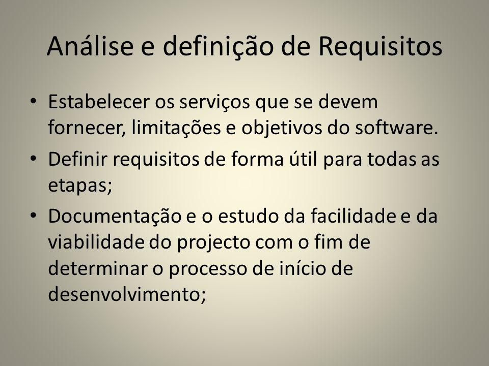 Análise e definição de Requisitos