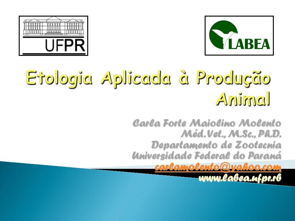 Etologia Aplicada à Produção Animal