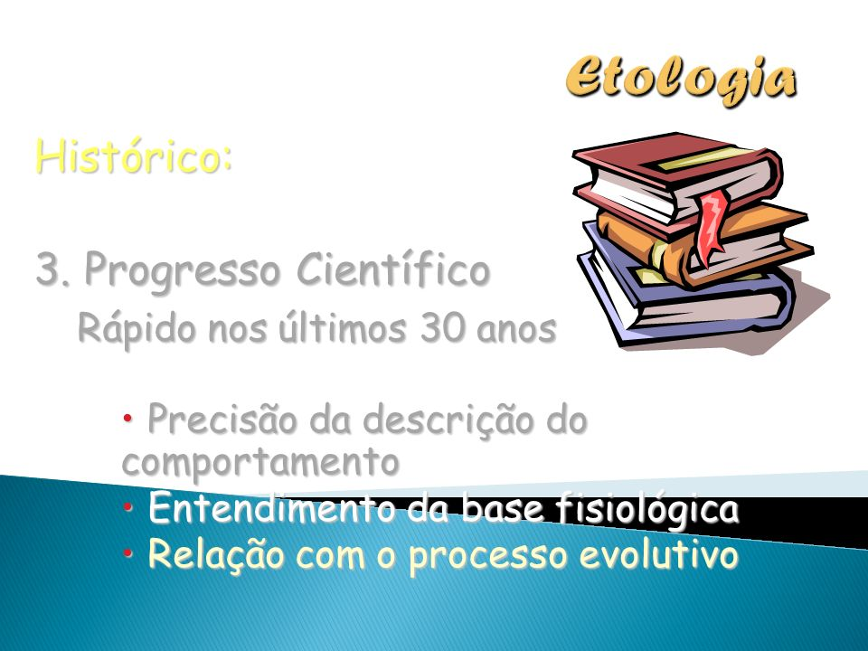 Etologia Histórico: 3. Progresso Científico Rápido nos últimos 30 anos
