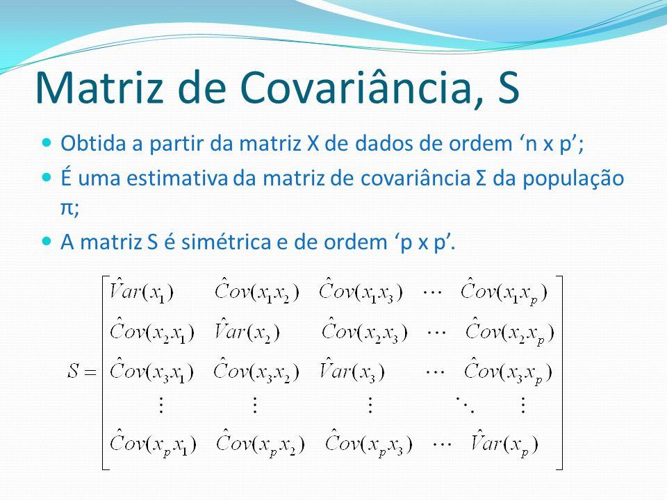 Matriz de Covariância, S