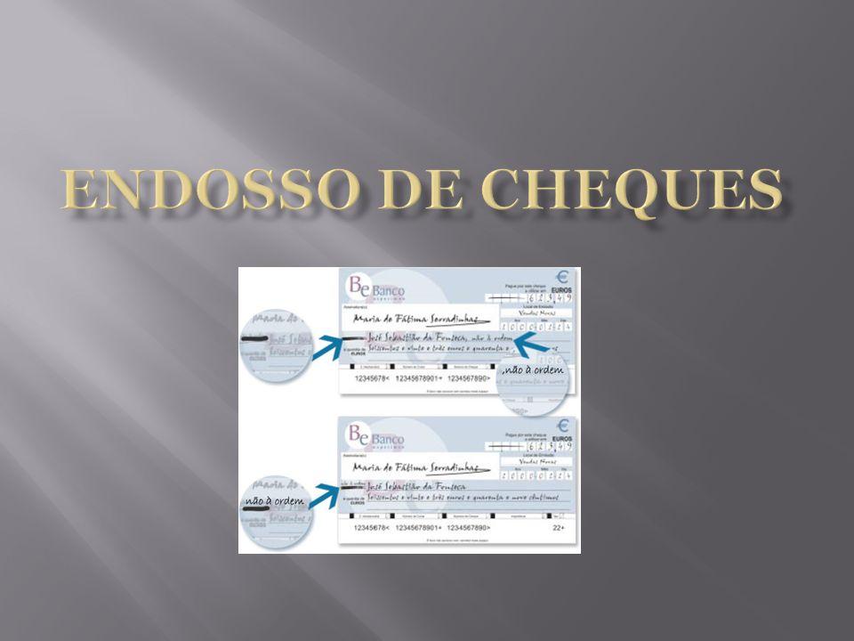 Endosso de cheques