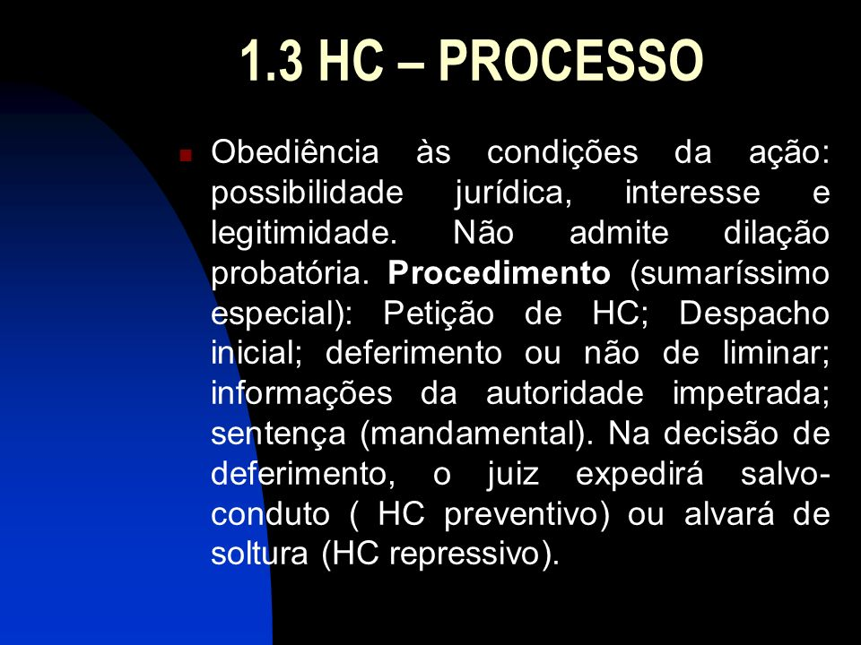 1.3 HC – PROCESSO