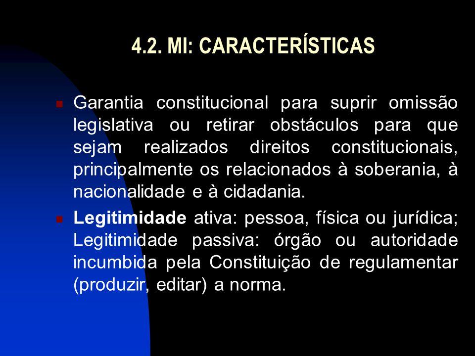 4.2. MI: CARACTERÍSTICAS