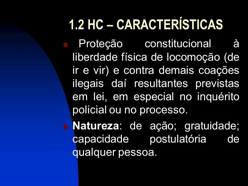 1.2 HC – CARACTERÍSTICAS