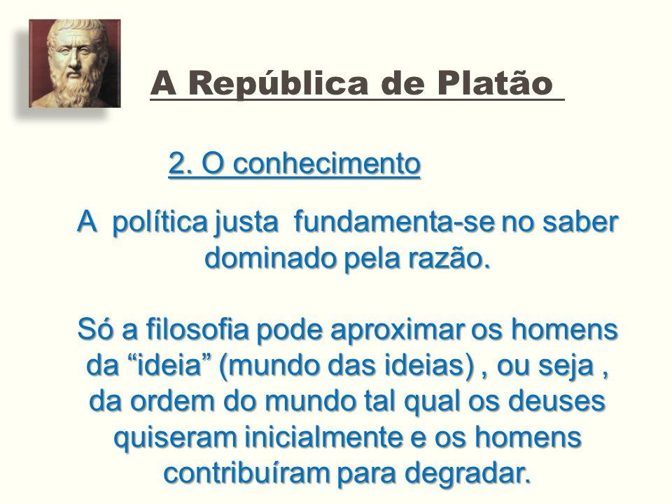 A política justa fundamenta-se no saber dominado pela razão.