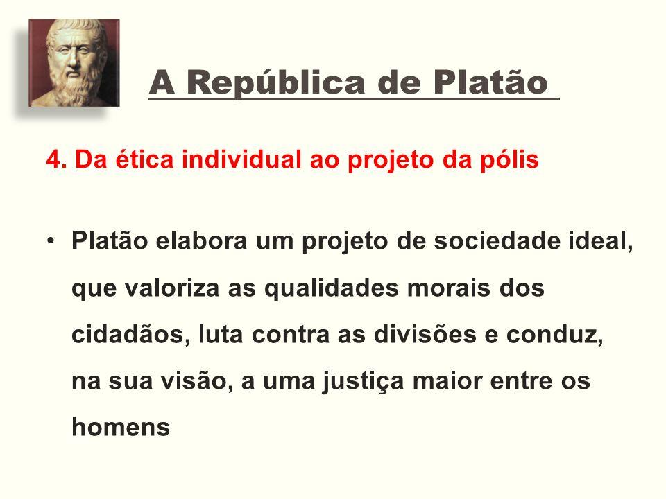 A República de Platão 4. Da ética individual ao projeto da pólis
